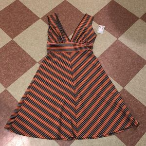 Vintage 90s striped dress swing midi